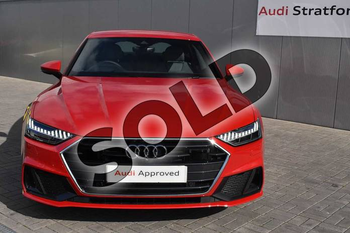 Image seven of this 2019 Audi A7 Sportback 45 TFSI S Line 5dr S Tronic (Comfort+Sound) in Tango Red Metallic at Stratford Audi