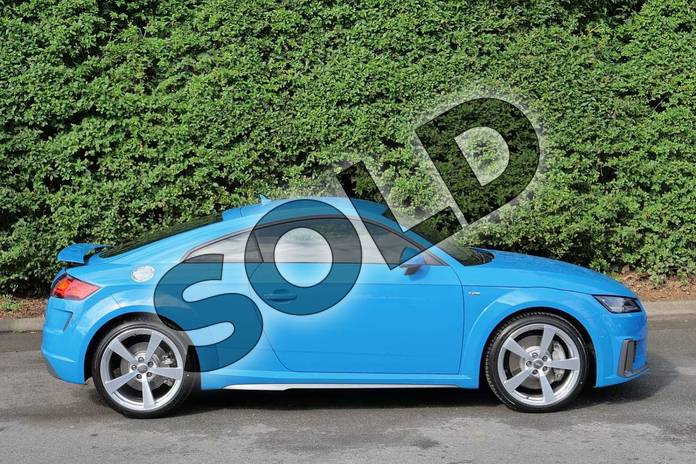 Image four of this 2019 Audi TT Coupe 45 TFSI S Line 2dr S Tronic in Turbo Blue at Worcester Audi