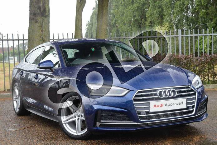 Picture of Audi A5 2.0 TFSI S Line 5dr S Tronic in Scuba Blue Metallic