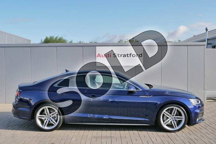 Image four of this 2019 Audi A5 Coupe 45 TFSI Quattro S Line 2dr S Tronic in Navarra Blue Metallic at Stratford Audi