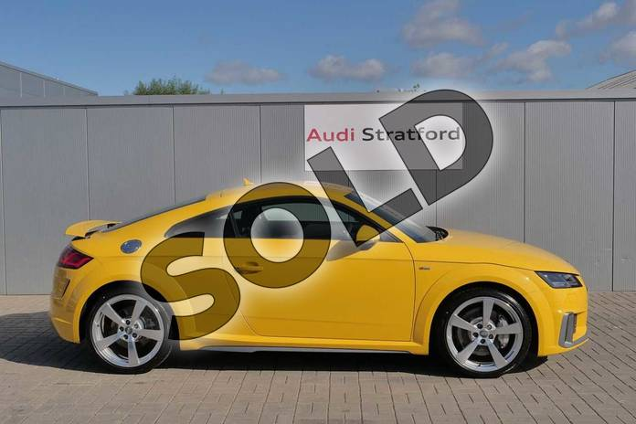 Image four of this 2019 Audi TT Coupe 45 TFSI Quattro S Line 2dr S Tronic in Vegas Yellow at Stratford Audi