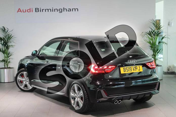Image three of this 2019 Audi A1 Sportback 40 TFSI S Line Competition 5dr S Tronic in Myth Black Metallic at Birmingham Audi