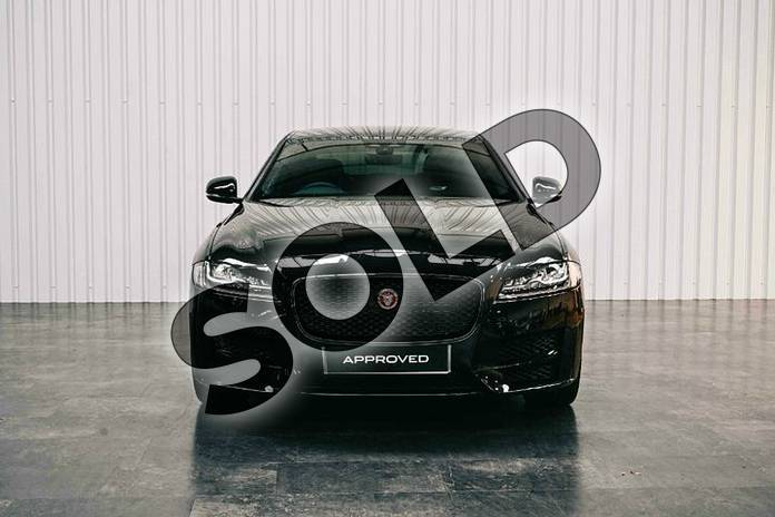 Image seven of this 2019 Jaguar XF Saloon 2.0i (250) R-Sport 4dr Auto in Santorini Black at Listers Jaguar Solihull