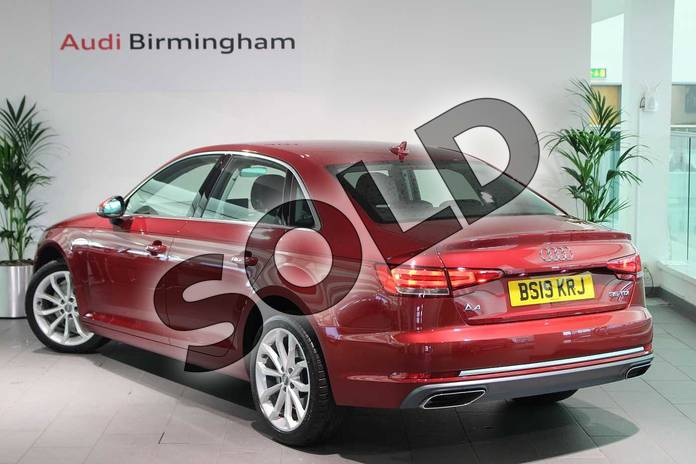 Image three of this 2019 Audi A4 Diesel Saloon 35 TDI Sport 4dr S Tronic in Matador Red Metallic at Birmingham Audi