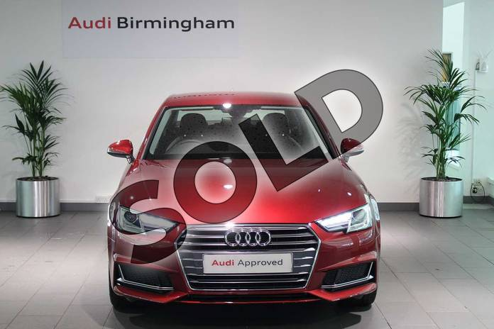 Image seven of this 2019 Audi A4 Diesel Saloon 35 TDI Sport 4dr S Tronic in Matador Red Metallic at Birmingham Audi