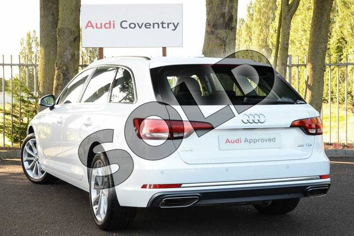 Image three of this 2019 Audi A4 Diesel Avant 35 TDI Sport 5dr S Tronic in Ibis White at Coventry Audi