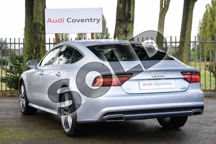 Image three of this 2019 Audi A7 Diesel Sportback 3.0 TDI Quattro 272 S Line 5dr S Tronic in Floret Silver Metallic at Coventry Audi
