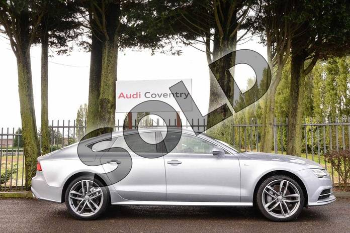 Image four of this 2019 Audi A7 Diesel Sportback 3.0 TDI Quattro 272 S Line 5dr S Tronic in Floret Silver Metallic at Coventry Audi