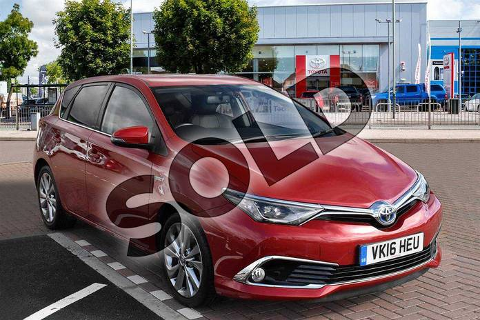 Picture of Toyota Auris 1.8 Hybrid Excel 5dr CVT in Vermilion Red