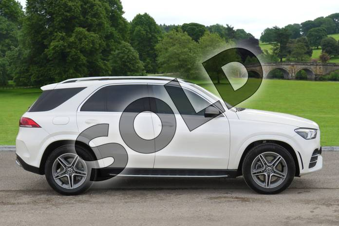 Image four of this 2019 Mercedes-Benz GLE Diesel Estate Diesel GLE 300d 4Matic AMG Line Prem + 5dr 9G-Tron (7 St) in designo diamond white bright at Mercedes-Benz of Boston