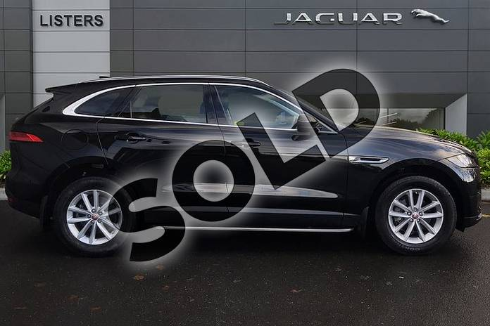 Image five of this 2019 Jaguar F-PACE Diesel Estate 2.0d (240) Prestige 5dr Auto AWD in Santorini Black at Listers Jaguar Droitwich