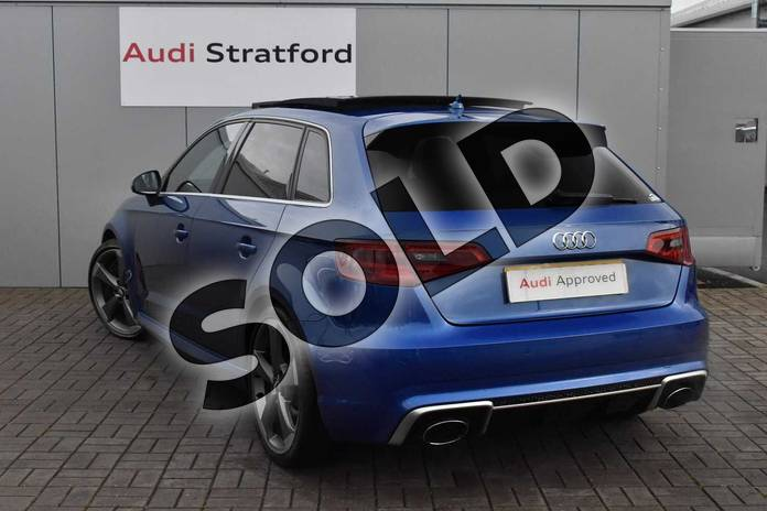 Image three of this 2016 Audi RS 3 Sportback RS 3 2.5 TFSI RS 3 Quattro 5dr S Tronic (Nav) in Sepang Blue Pearlescent at Stratford Audi