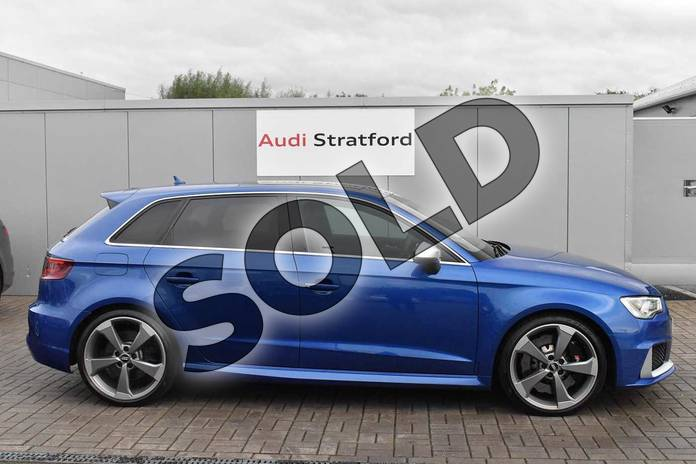 Image four of this 2016 Audi RS 3 Sportback RS 3 2.5 TFSI RS 3 Quattro 5dr S Tronic (Nav) in Sepang Blue Pearlescent at Stratford Audi