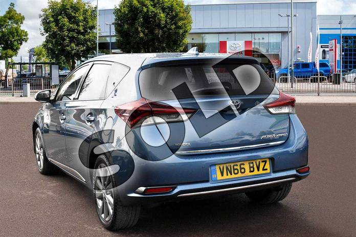 Image three of this 2016 Toyota Auris Hatchback 1.8 Hybrid Excel 5dr CVT in Denim Blue at Listers Toyota Cheltenham
