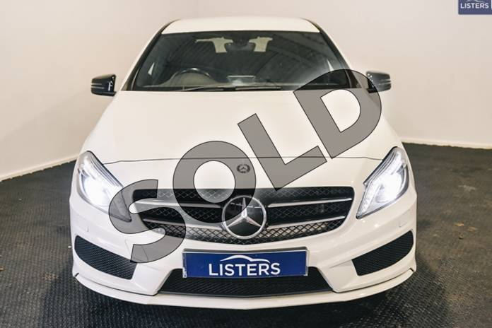 Image two of this 2014 Mercedes-Benz A Class Diesel Hatchback Diesel A220 CDI BlueEFFICIENCY AMG Sport 5dr Auto in Solid - Cirrus white at Listers U Stratford-upon-Avon