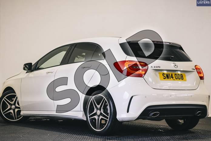 Image five of this 2014 Mercedes-Benz A Class Diesel Hatchback Diesel A220 CDI BlueEFFICIENCY AMG Sport 5dr Auto in Solid - Cirrus white at Listers U Stratford-upon-Avon