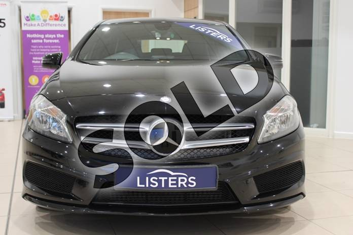 Image two of this 2015 Mercedes-Benz A Class Diesel Hatchback Diesel A220 CDI BlueEFFICIENCY AMG Sport 5dr Auto in Metallic - Cosmos Black at Listers U Northampton