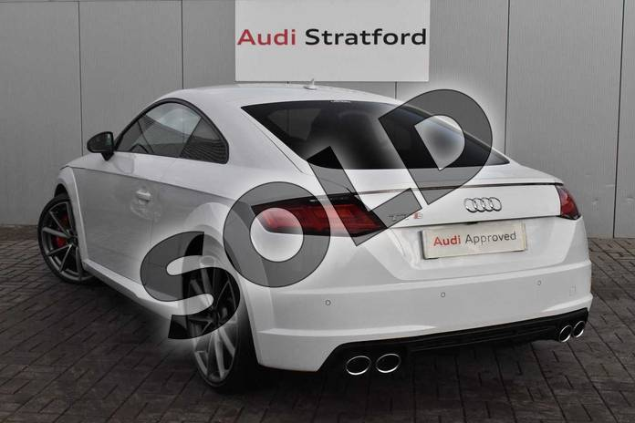 Image three of this 2017 Audi TT Coupe Special Editions Special Editions 2.0T FSI Quattro TTS Black Edition 2dr S Tronic in Glacier White Metallic at Stratford Audi