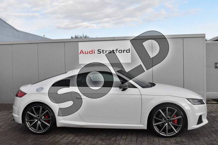 Image four of this 2017 Audi TT Coupe Special Editions Special Editions 2.0T FSI Quattro TTS Black Edition 2dr S Tronic in Glacier White Metallic at Stratford Audi
