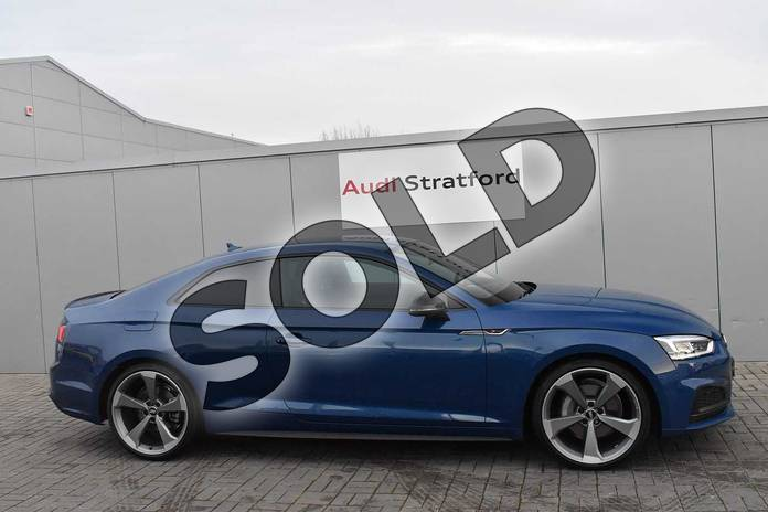 Image four of this 2019 Audi A5 Diesel Coupe Diesel 40 TDI Quattro Black Edition 2dr S Tronic in Ascari Blue Metallic at Stratford Audi