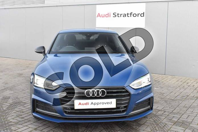 Image seven of this 2019 Audi A5 Diesel Coupe Diesel 40 TDI Quattro Black Edition 2dr S Tronic in Ascari Blue Metallic at Stratford Audi