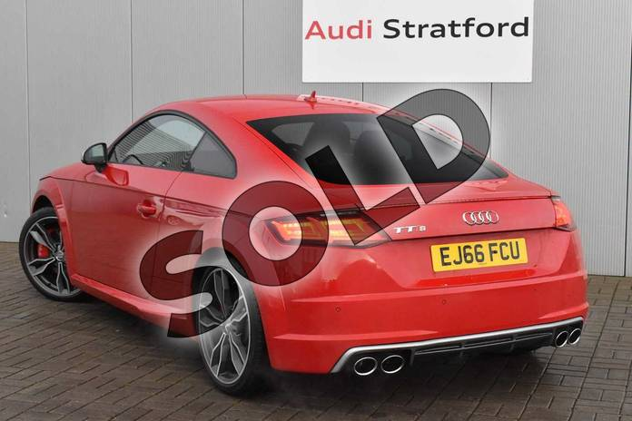 Image three of this 2016 Audi TT Coupe 2.0T FSI Quattro TTS 2dr S Tronic in Tango Red Metallic at Stratford Audi