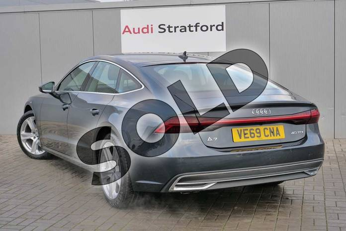 Image three of this 2019 Audi A7 Diesel Sportback 40 TDI Sport 5dr S Tronic in Triton Blue Metallic at Stratford Audi