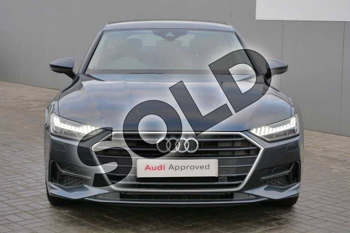 Image seven of this 2019 Audi A7 Diesel Sportback 40 TDI Sport 5dr S Tronic in Triton Blue Metallic at Stratford Audi