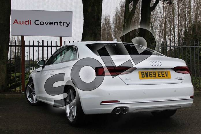 Image three of this 2019 Audi A5 Diesel Coupe 40 TDI Quattro Sport 2dr S Tronic in Ibis White at Coventry Audi