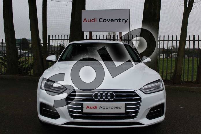 Image seven of this 2019 Audi A5 Diesel Coupe 40 TDI Quattro Sport 2dr S Tronic in Ibis White at Coventry Audi