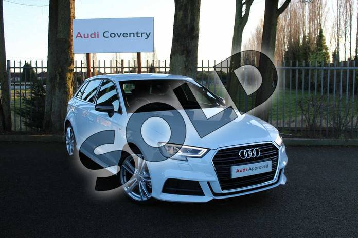 Picture of Audi A3 30 TDI 116 S Line 5dr S Tronic in Glacier White Metallic