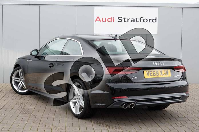 Image three of this 2019 Audi A5 Diesel Coupe 40 TDI S Line 2dr S Tronic in Brilliant Black at Stratford Audi