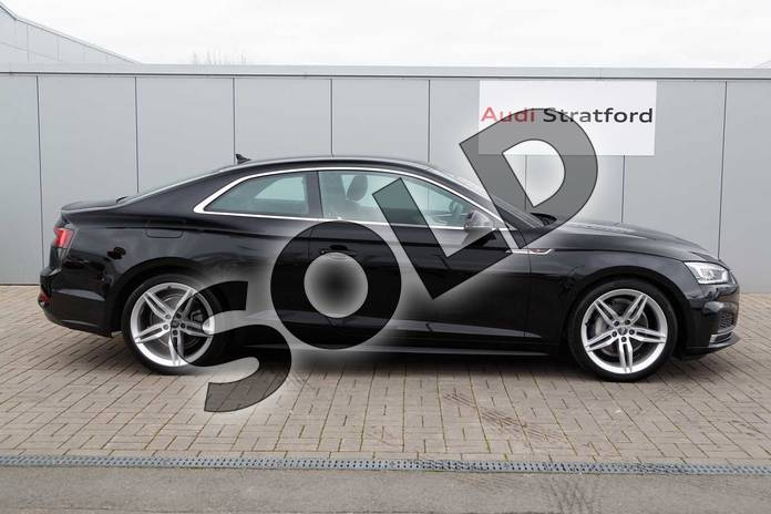 Image four of this 2019 Audi A5 Diesel Coupe 40 TDI S Line 2dr S Tronic in Brilliant Black at Stratford Audi