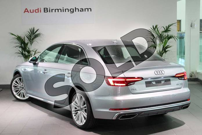 Image three of this 2019 Audi A4 Diesel Saloon 35 TDI S Line 4dr S Tronic in Floret Silver Metallic at Birmingham Audi