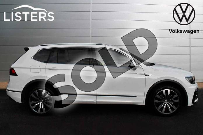 Image four of this 2019 Volkswagen Tiguan Allspace Diesel Estate 2.0 TDI R Line Tech 5dr DSG in Pure White at Listers Volkswagen Evesham