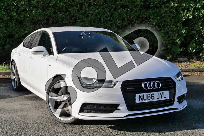 Picture of Audi A7 3.0 TDI Quattro 272 Black Edition 5dr S Tronic in Ibis White