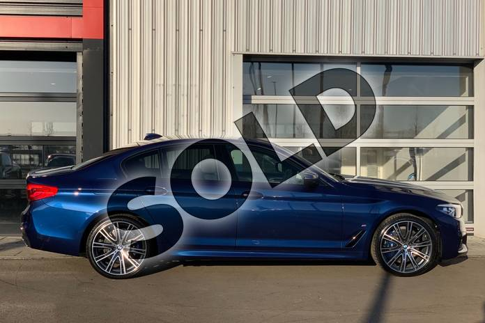 Image four of this 2020 BMW 5 Series Saloon 530e M Sport 4dr Auto in Mediterranean Blue at Listers King's Lynn (BMW)