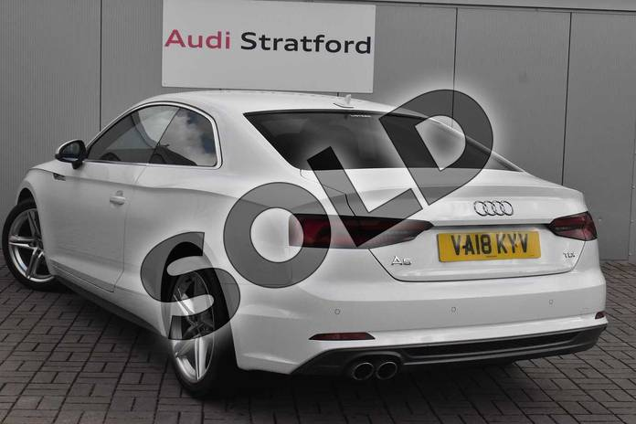 Image three of this 2018 Audi A5 Diesel Coupe 2.0 TDI S Line 2dr S Tronic in Ibis White at Stratford Audi