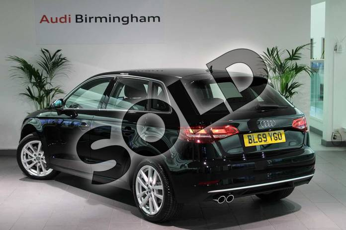 Image three of this 2020 Audi A3 Diesel Sportback 35 TDI Sport 5dr S Tronic in Brilliant Black at Birmingham Audi