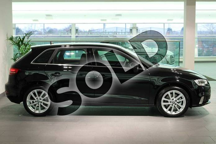 Image four of this 2020 Audi A3 Diesel Sportback 35 TDI Sport 5dr S Tronic in Brilliant Black at Birmingham Audi