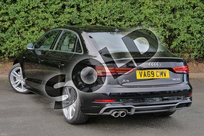 Image three of this 2020 Audi A3 Diesel Saloon 35 TDI S Line 4dr in Myth Black Metallic at Worcester Audi