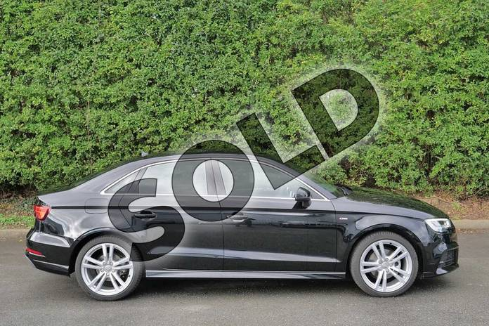 Image four of this 2020 Audi A3 Diesel Saloon 35 TDI S Line 4dr in Myth Black Metallic at Worcester Audi