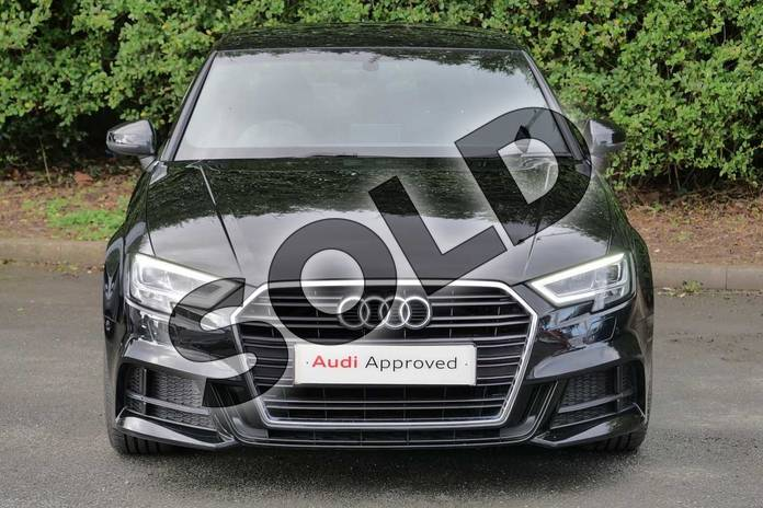 Image seven of this 2020 Audi A3 Diesel Saloon 35 TDI S Line 4dr in Myth Black Metallic at Worcester Audi