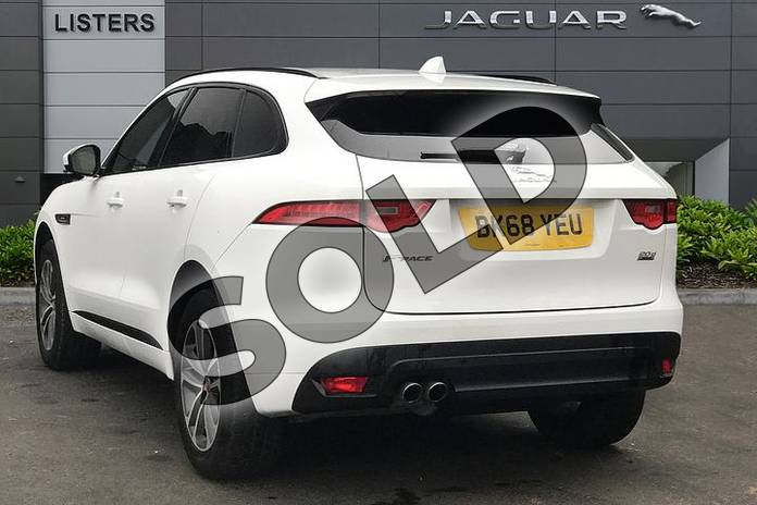 Image two of this 2018 Jaguar F-PACE Diesel Estate 2.0d R-Sport 5dr Auto AWD in Fuji White at Listers Jaguar Solihull