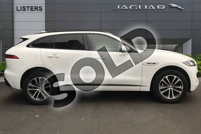 Image five of this 2018 Jaguar F-PACE Diesel Estate 2.0d R-Sport 5dr Auto AWD in Fuji White at Listers Jaguar Solihull