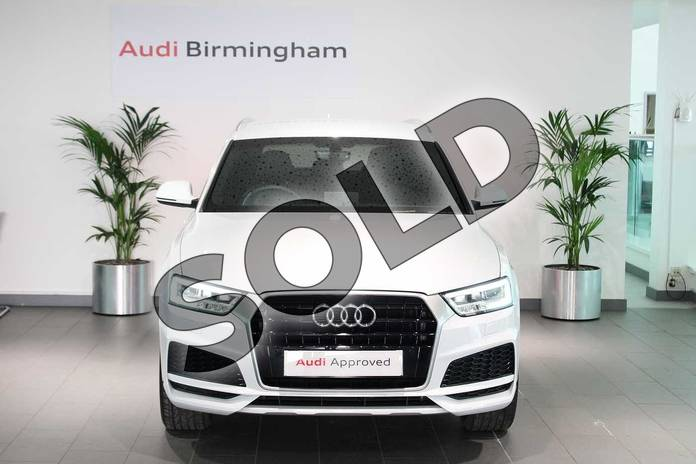 Image seven of this 2018 Audi Q3 Estate Special Editions 2.0 TDI S Line Edition 5dr in Glacier White Metallic at Birmingham Audi