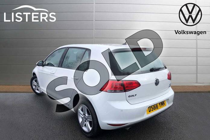 Image three of this 2016 Volkswagen Golf Diesel Hatchback 1.6 TDI 110 Match Edition 5dr in Pure White at Listers Volkswagen Worcester