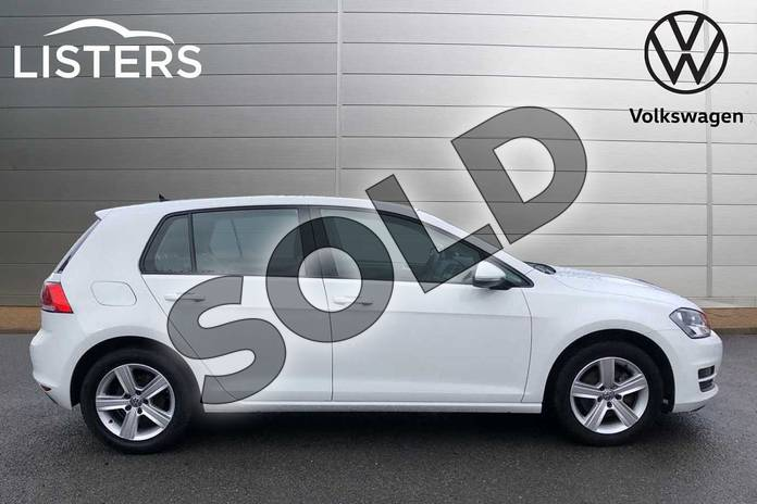 Image four of this 2016 Volkswagen Golf Diesel Hatchback 1.6 TDI 110 Match Edition 5dr in Pure White at Listers Volkswagen Worcester