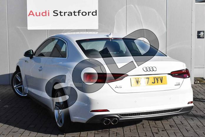 Image three of this 2017 Audi A5 Diesel Coupe 2.0 TDI Quattro S Line 2dr S Tronic in Ibis White at Stratford Audi