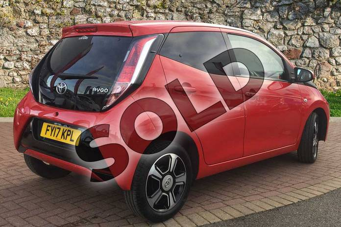 Image two of this 2017 Toyota AYGO Hatchback Special Editions 1.0 VVT-i X-Clusiv 3 5dr in Red Pop at Listers Toyota Grantham